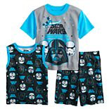 Boys 6-12 Star Wars Vader Works Tee, Tank Top & Shorts Pajama Set