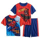 Boys 6-12 Marvel Spider-Man Spider Power Up Tees & Shorts Pajama Set