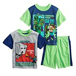 Boys 6-12 Minecraft Path to Nether Tops & Bottoms Pajama Set
