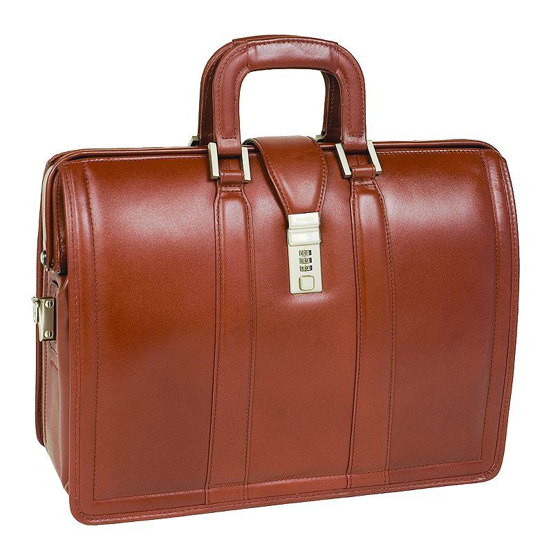 McKlein Morgan Leather Laptop Briefcase