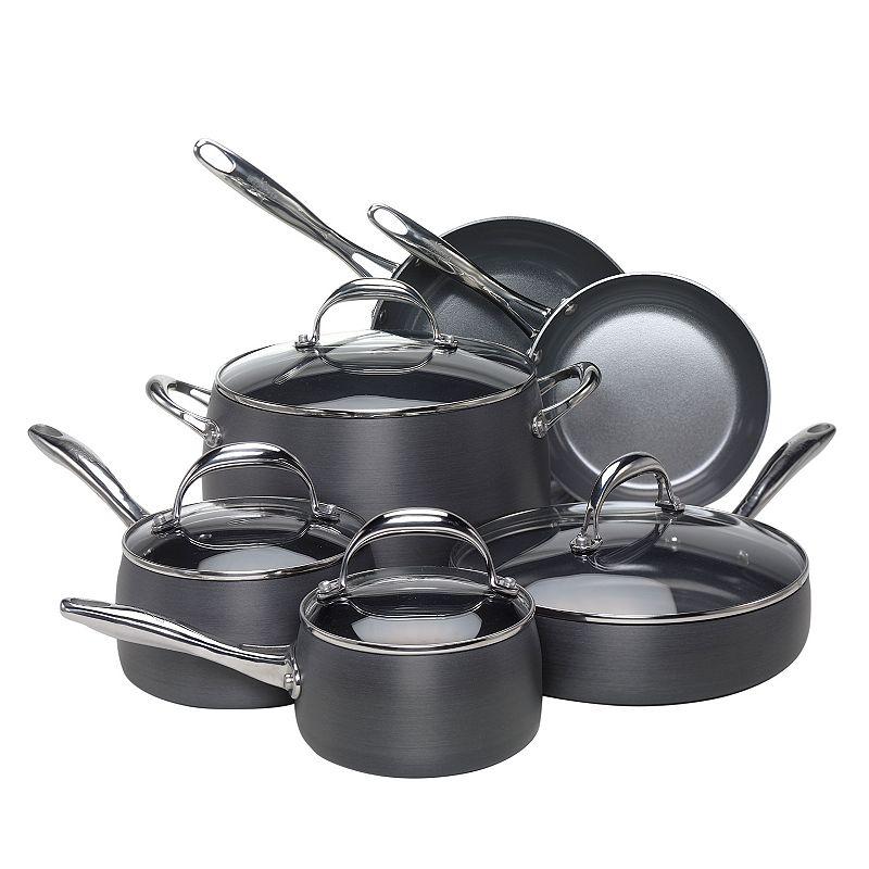 EarthPan 10-pc. Nonstick Hard-Anodized Cookware Set (Multicolor)
