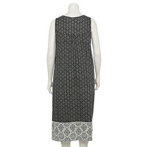 Plus Size Croft & Barrow® Mixed Print Sleeveless Nightgown