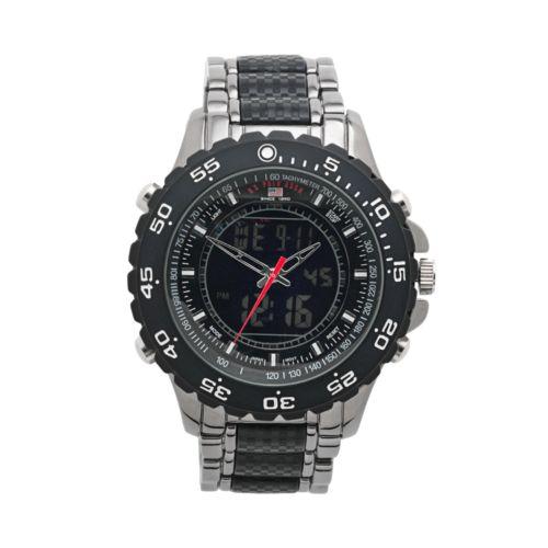 U.S. Polo Assn. Gunmetal Analog and Digital Chronograph Watch - Men