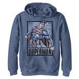 Boys 8-20 Superman Action Poster Graphic Fleece Hoodie