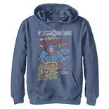 Boys 8-20 Superman 2001 Vintage Comic Cover Graphic Fleece Hoodie