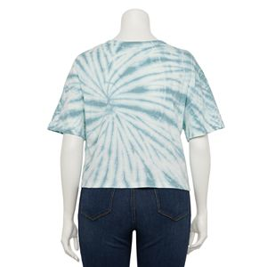 Juniors' Plus Size SO® Cropped Boxy Tie Dye Tee