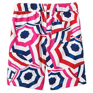 Boys 10-20 Lands' End Print Swim Trunks in Husky
