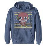 Boys 8-20 DC Comics The Flash Chibi Christmas Sweater Style Graphic Fleece Hoodie