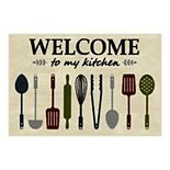Maples Welcome Washable Kitchen & Throw Rug