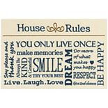 Maples House Rules Washable Kitchen & Throw Rug
