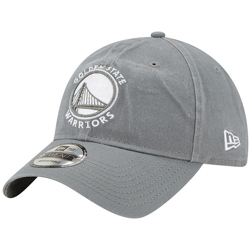 Men's New Era Gray Golden State Warriors Core Classic 9TWENTY Adjustable Hat, Grey