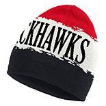 Men's adidas Black Chicago Blackhawks 2020/21 Reverse Retro Knit Hat