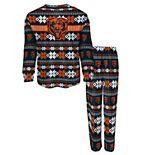 Toddler Navy Chicago Bears Holiday Long Sleeve T-Shirt and Pants Pajama Set