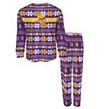 Toddler Purple Minnesota Vikings Holiday Long Sleeve T-Shirt and Pants Pajama Set