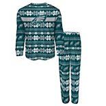 Toddler Midnight Green Philadelphia Eagles Holiday Long Sleeve T-Shirt and Pants Pajama Set