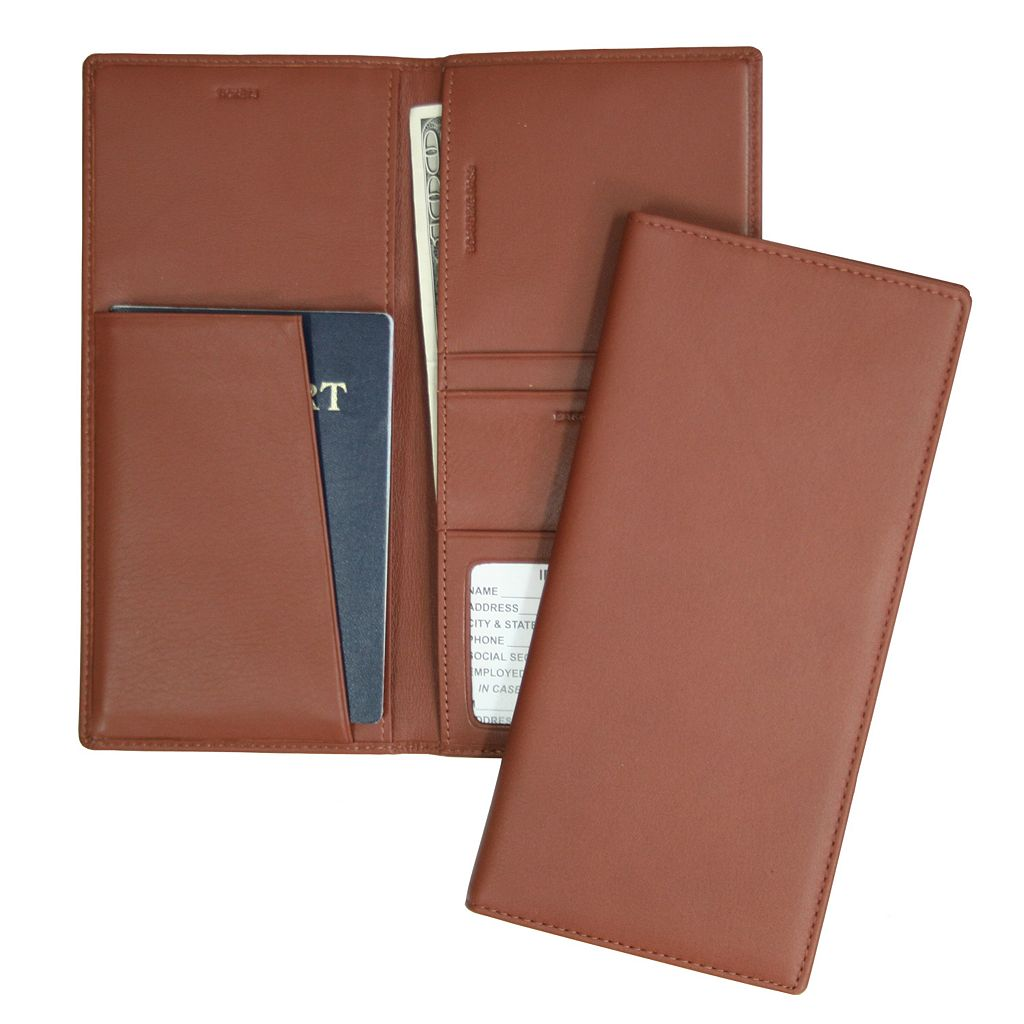 Royce Leather Airline Ticket and Passport Holder