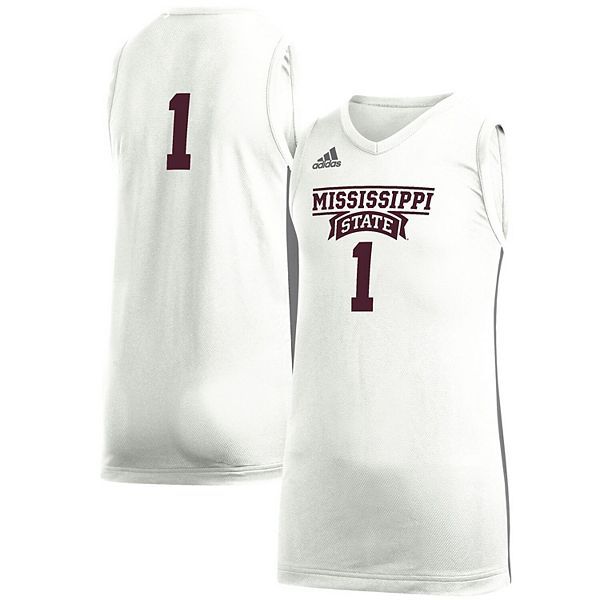 Youth adidas #1 White Mississippi State Bulldogs Game Jersey