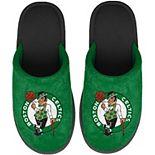 Youth FOCO Green Boston Celtics Big Logo Scuff Slippers