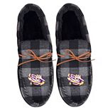 Men's FOCO LSU Tigers Flannel Moccasin Slippers