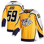 Men's adidas Roman Josi Yellow Nashville Predators 2020/21 Reverse Retro Authentic Player Jersey