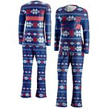 Women's FOCO Royal Buffalo Bills Ugly Pajama Set