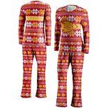 Women's FOCO Red Kansas City Chiefs Ugly Pajama Set