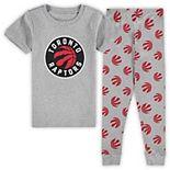 Preschool Heathered Gray Toronto Raptors T-Shirt & Pants Sleep Set