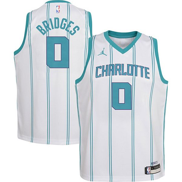 Charlotte Hornets Miles Bridges Icon Edition Teal Swingman Jersey