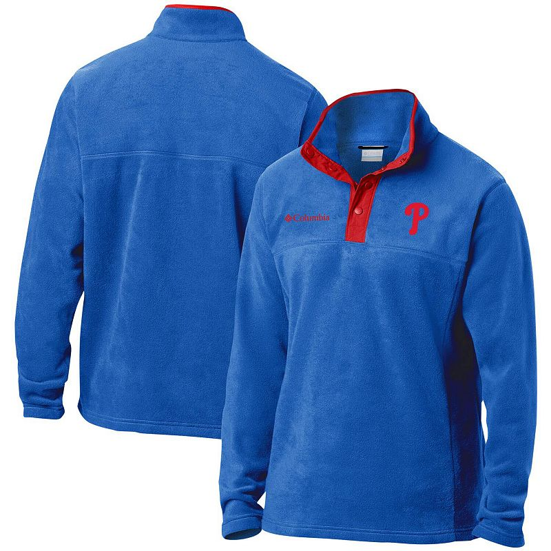 Men's Columbia Royal Washington Nationals Big & Tall Steens Mountain Half-Snap Jacket, Size: 1XB, Blue