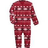 Infant Red Tampa Bay Buccaneers Holiday Full-Zip Pajamas