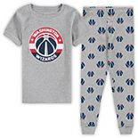 Preschool Heathered Gray Washington Wizards T-Shirt & Pants Sleep Set
