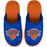 Youth FOCO Blue New York Knicks Big Logo Scuff Slippers