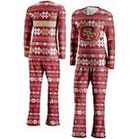 Women's FOCO Scarlet San Francisco 49ers Ugly Pajama Set