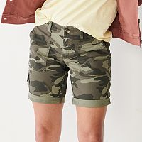 Sonoma Goods For Life Women's Ultra Comfort Waist Utility Bermuda Shorts (various colors/sizes)