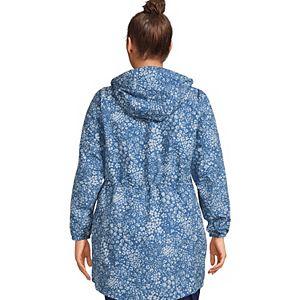 Plus Size Lands' End Hooded Packable Raincoat