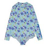 Girls 7-16 Hurley Ruffle Rashguard One-Piece Swimsuit