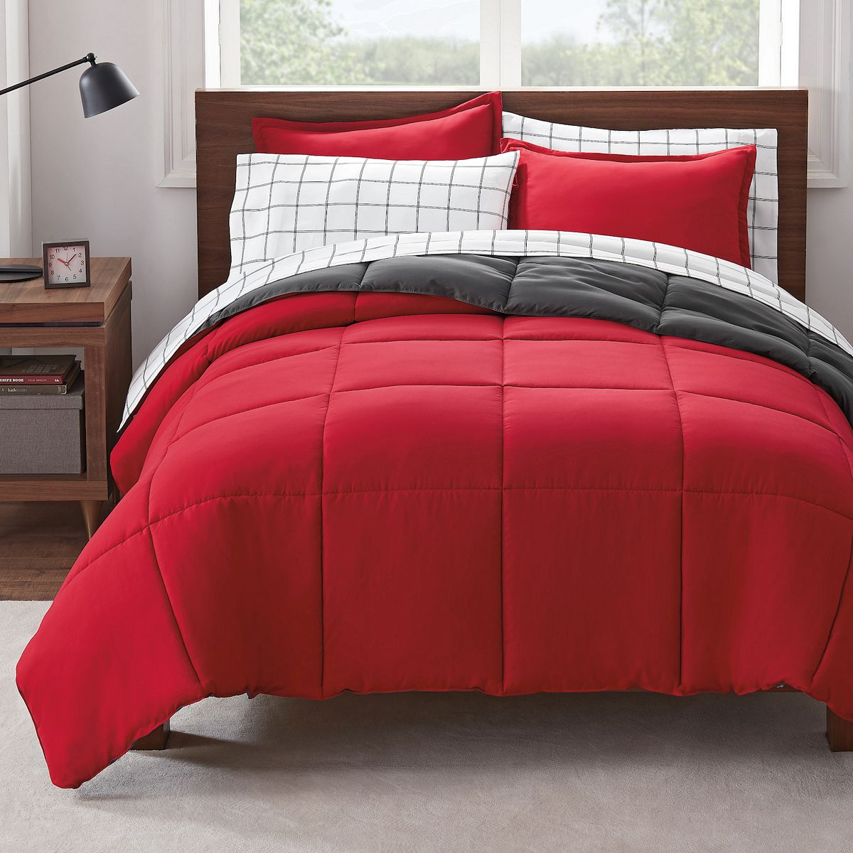 Serta® Simply Clean Antimicrobial Reversible Comforter Set with Sheets $22.50