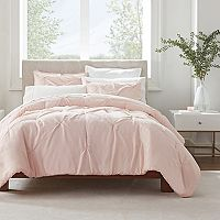 Serta Simply Clean Antimicrobial Pleated 3-Piece Comforter Set Deals