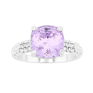 City Luxe Austrian Crystal Cushion Ring