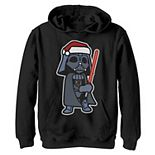 Boys 8-20 Star Wars Darth Vader Saber Santa Hat Christmas Graphic Fleece Hoodie