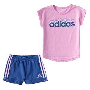 Baby Girl adidas Dance Tee & Shorts Set