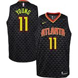 Youth Nike Trae Young Black Atlanta Hawks 2019/20 Swingman Jersey - Icon Edition