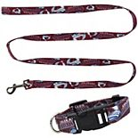 Little Earth Colorado Avalanche Collar and Leash Set