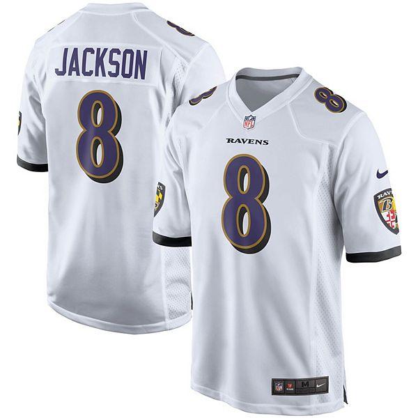 Men's Nike Lamar Jackson White Baltimore Ravens Player Game Jersey