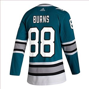 Men's adidas Brent Burns Teal San Jose Sharks 30th Anniversary Authentic Player Jersey
