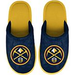 Youth FOCO Navy Denver Nuggets Big Logo Scuff Slippers