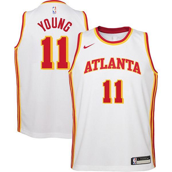 Youth Nike Trae Young White Atlanta Hawks 2020/21 Swingman Jersey - Association Edition