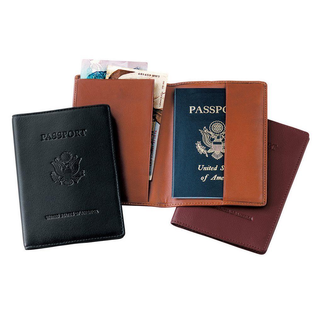 Royce Leather Debossed Seal Passport Jacket