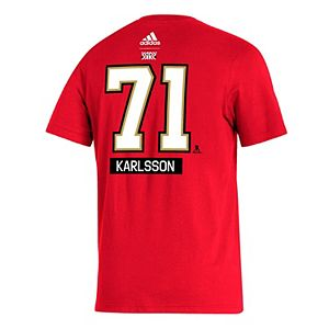 Men's adidas William Karlsson Red Vegas Golden Knights 2020/21 Reverse Retro Name & Number T-Shirt