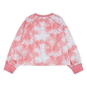 Girls 7-16 Levi's® Tie Dye Full Sleeve Boxy Fit Crewneck Sweatshirt